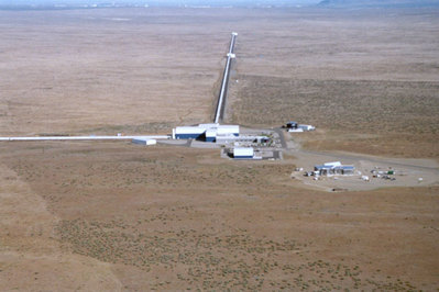 LIGO aerial photograph of Hanford interferometer
