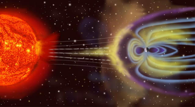 Artist's view of Earth's magnetosphere