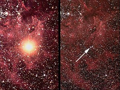 Around supernova 1987A, before and just after the event