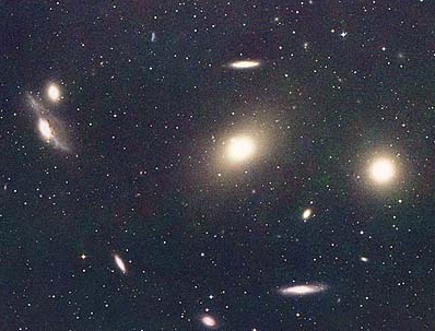 Virgo cluster- M84 and M86