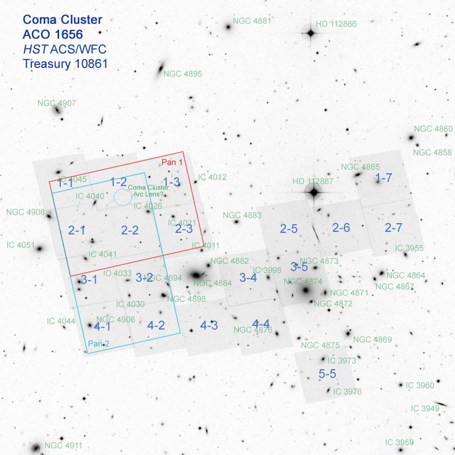 Coma Cluster Treasury Survey - Image Gallery
